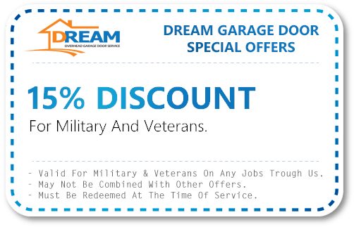 Veterans Discount for Garage Door Service